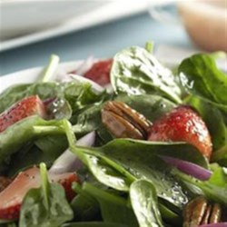 Berry Spinach Salad Recipe - An excellent variation of the traditional raspberry vinaigrette.