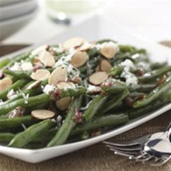 Green Beans with Warm Dijon Vinaigrette Recipe - The Warm Dijon Vinaigrette transforms simple green beans into beans fit for company!