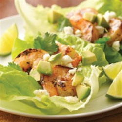 Mojito Shrimp Lettuce Wraps Recipe - Refreshing and easy summer fare with citrus, garlic and sweet mild chile flavors.