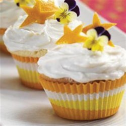Triple Citrus Cupcakes Recipe - Lemon, lime and orange make these cupcakes triple delicious!
