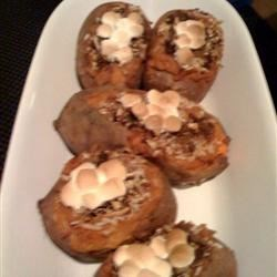 Twice Baked Kahlua Sweet Potatos