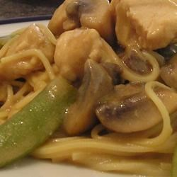 Peanut Sesame Chicken with Mushrooms