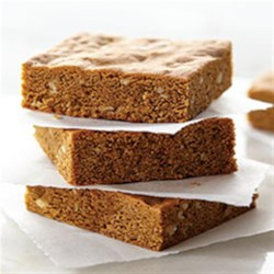 Chewy Molasses Bars Recipe - Molasses, brown sugar, and walnuts bring chewiness, texture, and great flavor to these easy autumn lunch-box treats.