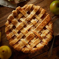 Spiced Pear & Apple Pie Recipe - Autumn pears and apples with cinnamon and ginger make a delicious holiday pie.