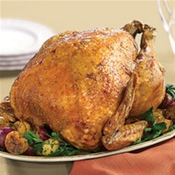 Succulent Deep Fried Turkey Recipe - Seasoned with spicy Cajun seasoning and cayenne pepper, this deep-fried turkey takes the holiday dinner's starring role to new heights.