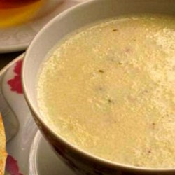 Moroccan Semolina Soup with Milk, Anise Seeds, and Honey Recipe - Warm up in the winter months with this Moroccan semolina soup nicely spiced with anise seed. Serve with honey and cinnamon for a little sweetness.