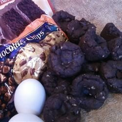 Chocolate Chip Cake Mix Cookies Recipe - A marvelously, moist cookie for the chocoholic.  Quick and easy!