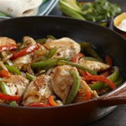 Chicken Fajitas from Mazola(R) Recipe - Delicious chicken fajitas seasoned just right are ready to serve in 25 minutes.