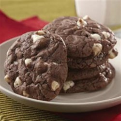 Double Fudge Brownie Cookies Recipe - These decadent cookies start with a brownie mix!