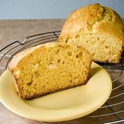 Apricot Nut Bread Recipe -  Almonds, hazelnuts or cashews would work particularly well with the apricot halves in this delicious bread.