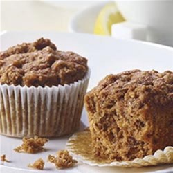 Apple Bran Muffins from Mott's(R) Recipe - Start your day off right with a filling muffin. Add moisture and flavor to your bran muffins with Mott's Cinnamon Applesauce.