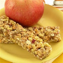 Applesauce Energy Bars Recipe - These bars are great for an added boost of energy when you are on-the-go or a quick breakfast to start the day.