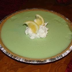 No Bake Lemon-Lime Chiffon Pie Recipe - Fresh lemon juice, lime gelatin, and evaporated milk create a light, airy filling in this easy, no-bake chilled pie with a graham cracker crust. A nice bonus: The recipe makes two pies for the effort of one.