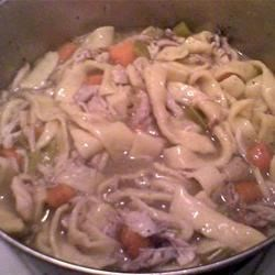 Chicken and Sliders Recipe - This recipe is an old French Canadian recipe which originated during the depression. It consists of tender pieces of chicken and homemade noodles swimming in a delicious gravy.  A real rib sticker and a favourite with my family during the winter.  Sounds harder than it is and it is absolutely delicious!