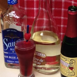 Framboise Fizz Recipe - Raspberry liqueur, called framboise, gives this refreshing tequila-based cocktail a sweet finish.
