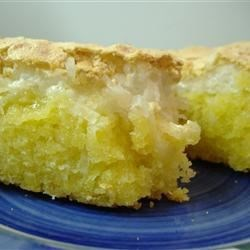 Coconut Meringue Cake Recipe - A good cake to take along on picnics or for lunches.