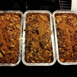 Almond Chocolate Chip Pumpkin Bread Recipe - Make this recipe for almond chocolate chip pumpkin bread for your holiday table or to give as holiday gifts.