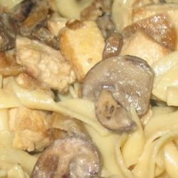 Tofu Stroganoff Recipe - This is a creamy tofu and mushroom stroganoff that our whole family likes. It's quick to make for a weeknight dinner.