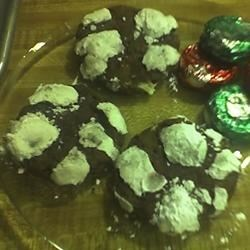 Peppermint Patty Surprise Recipe - A chocolaty, minty cookie dough with a surprise peppermint patty inside!