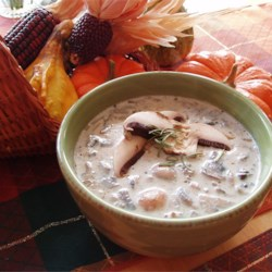 Creamy Mushroom Soup Recipe - This fresh and creamy soup is easy to make, and filled with hearty chopped mushrooms.