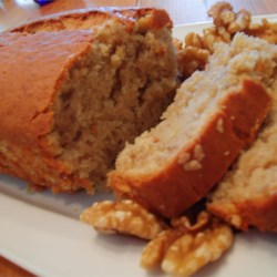 Banana Loaf Recipe - Moist banana loaf, delicious warmed with butter ... mmmmmmm ... This recipe can be easily doubled to make 2 loaves.