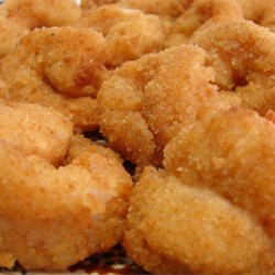 Fried Butterflied Shrimp Recipe - Shrimp coated with breadcrumbs and deep fried.