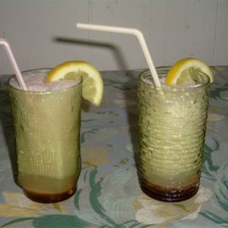 Pinkies Recipe - A very pretty drink consisting of homemade red vanilla flavored syrup mixed with lemon-lime soda.