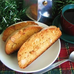 Biscotti Recipe - This is a simple, no frills biscotti. My friend at work gave this recipe to me.  It's quick, easy and one of my favorite Italian cookie recipes.