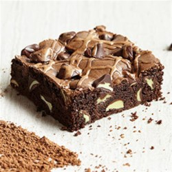 Mocha Brownies with Mint Filled DelightFulls(TM) Recipe - If a mint mocha sounds like something you'd order at your next coffee stop, just wait until you try the brownie version. Start with a mocha-based brownie batter, add Mint Filled DelightFulls(TM) and you'll have a chocolaty java treat that will perk everyone up.