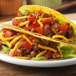 Easy Tacos Recipe - Serve these tasty tacos that get fabulous flavor from Mexican-style tomato soup. Your family can have this crunchy, and delicious dish on the table in just 20 minutes.