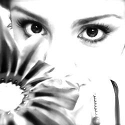 Just me, hiding behind a flower...