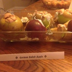 Real German Baked Apples Recipe - This really delicious Baked Apple and easy-to-make recipe is perfect for the season. Cinnamon and raisins warm you during cold and windy winter evenings.