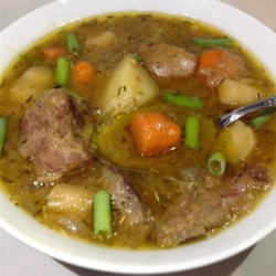 McIntire's Lamb Stew Recipe - A shot of Irish whiskey adds a richness to this hearty, one-pot lamb stew.