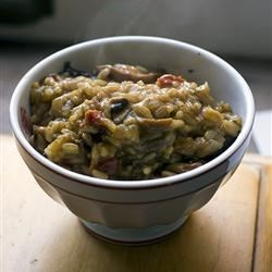 Risotto with Cremini Mushrooms & Sun-dried Tomatoes