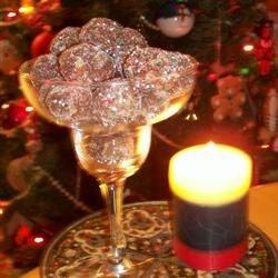 Chocolate walnut rum balls for Christmas