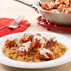 Skillet Chicken Parmesan with Quinoa Recipe - This is a quinoa skillet recipe with tender pieces of breaded chicken, seasoned tomato sauce and cheese.