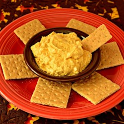 Whipped Pumpkin Dip Recipe - This easy 5-ingredient pumpkin dip recipe includes cream cheese, pumpkin puree, and pumpkin pie spice for a festive fall appetizer.