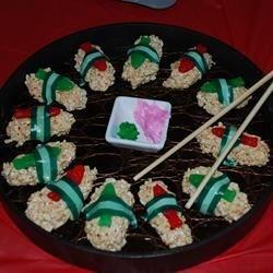 Rice Crispie Sushi