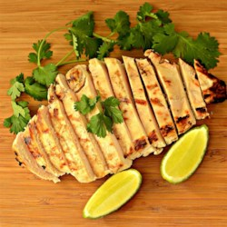 Cilantro-Lime Grilled Chicken Recipe - Chicken gets a quick marinade in lime juice and cilantro before grilling to perfection in this quick and easy, kid-approved dish!