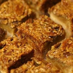 Pecan Pie Bars II Recipe - If you like pecan pie, you'll love this easy bar cookie recipe for bars made with pecans and brown sugar.