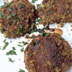 Green Lentil Burgers Recipe - This lentil burger is a tasty vegetarian burger with chewy green lentils that would go well with other vegetables and whole grains.