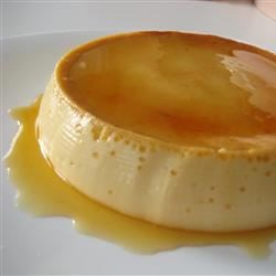 Spanish Flan  Recipe - This flan is made with condensed and evaporated milk and baked in a pie dish.