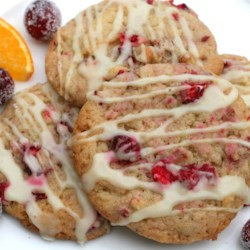 Cranberry Orange Cookies Recipe - A nice thing to have around during the holidays, but don't expect them to stay around long. These orange-flavored cranberry cookies are tart and delicious, not to mention beautiful.