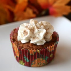 Best-Ever Pumpkin Cupcakes Recipe - Pumpkin puree and all the right spices are baked with a standard cupcake recipe creating the best-ever pumpkin cupcakes.