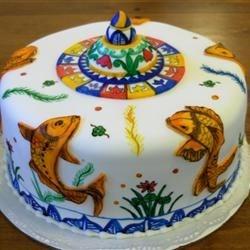 Painted Koi Cake