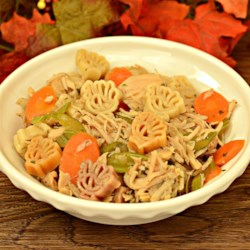 Homemade Turkey Soup Recipe - Homemade turkey soup with plenty of vegetables and pasta is a great way to use up leftover turkey from Thanksgiving.