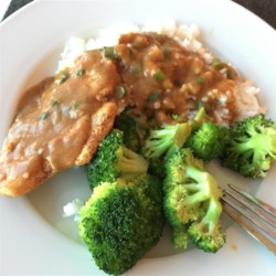 Chicken Breasts with Chipotle Green Onion Gravy Recipe and Video - This surprisingly simple chicken dish is served with a flavorful chipotle and green onion gravy.