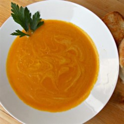 Yummy Butternut Squash Soup Recipe - Make a pot of creamy butternut squash soup with carrots, celery, onion, and a bit of white wine for a great winter bowl of comfort.
