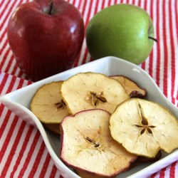 Perfect Apple Chips Recipe - Perfect for snacking on the go, these apple chips are soaked briefly in a lime mixture and sprinkled with sea salt.