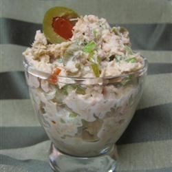 Gourmet Tuna Salad Recipe - The combination of green olives, almonds and capers in addition  to the usual ingredients in tuna salad makes this recipe exceptionally good.